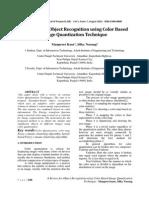 A Review for Object Recognition Using Color Based Image Quantization Technique Manuscript