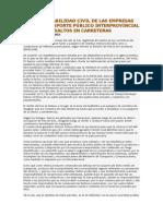 La Responsabilidad Civil de Las Empresas de Transporte Público Interprovincial en Los Asaltos en Carreteras