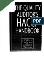 Quality Auditor HACCP Handbook