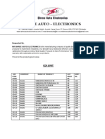 Pulsar Electronic Components Price List