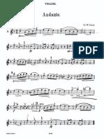 C.W.Gluck Andante, arr. Cello and, Piano