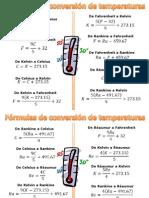 Conversión Temperaturas y Ejercicios