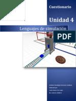 Cuestionario Unidad 4 Lenguajes de Simulación