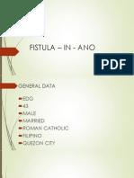 Fistula - in - ano