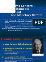 F. Soddy's Concern :   the Sustainable Development     And