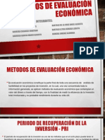 METODOS de Evaluación Económica