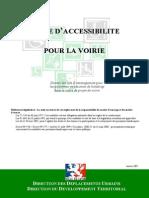Guide d'Accessibilité de La Voirie