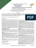 Pharmacological And Pharmaceutical Potential Of Moringa oleifera