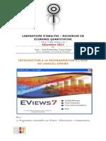 Programmation Sur Eviews
