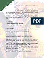 Programa Encuentro Regional de Estudiantes de Historia Valparaíso