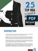 Top 25 Summer Internships