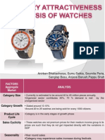 Category Attractiveness Analysis of Watches