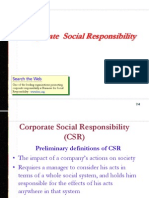 Corporate Social Responsibilties