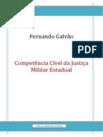 Competencia Civel Na Justiça Militar Estadual