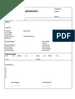 Registration Card Sample 3