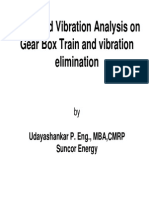 Advanced Vibration Analysis on Gear Box Train
