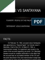 People vs Santayana