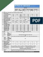 JK BSNL Prepaid Tarrifs