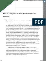 ISIS is a Disgrace to True Fundamentalism - Zizek
