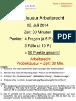 Probe Klaus Ur 020714