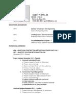 CV of Gilbert P. Betic