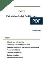 Hyperion essbase Calculation Scripts Presentation