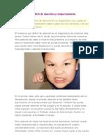 Trastornos por déficit de atención y comportamiento perturbador