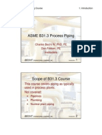 B31.3 Process Piping Course - 01 Introduction
