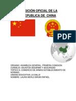 Posicion Oficial de China Topico A