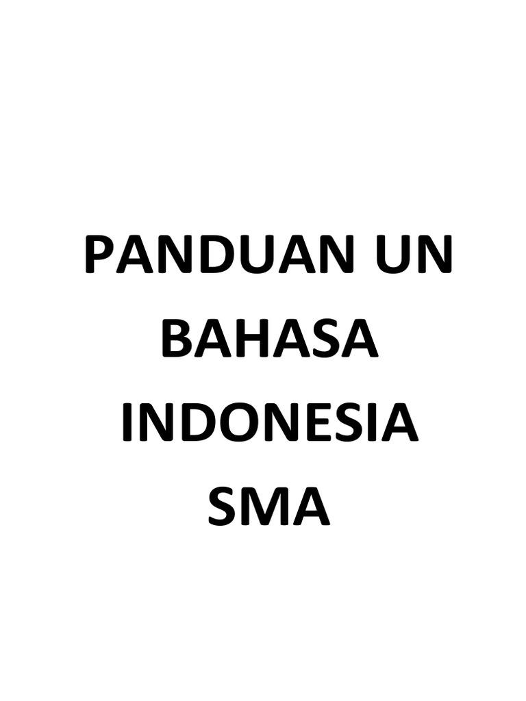 Intisari Dan Soal Bahasa Dan Sastra Indonesia Sma