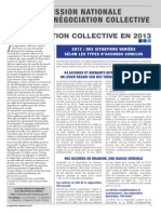 La Négociation Collective en 2013