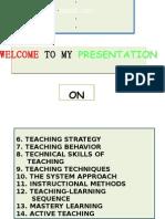 Strategies of Teaching