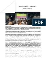 Compte Rendu Réunion Publique La Rochelle