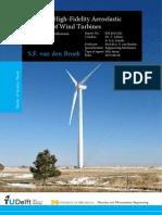 Towards high fidelity aeroelastic analysis of wind turbine blades