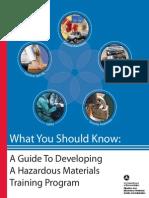 Guide to Developing a Hazardous Materials Training Program