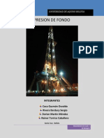 Informe de Presion de Fondo Tema#4