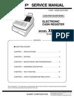 Sharp XE-A203 Elsctronic Cash Register Sm