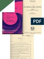 En Busca Del Texto - Dietrich Rall