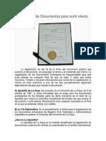 Legalización de Documentos Para Surtir Efecto en El Exterior