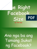 The Right Facebook Size