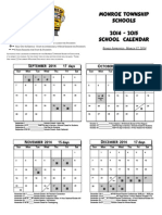 school calendar 2014-2015