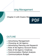 Mark 261 - Advertising Management - Chp 6