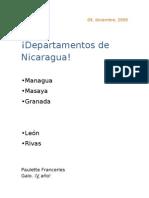 5 departamentos de Nicaragua