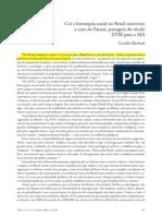 Topoi 17 - Artigo4 - Cor e Hierarquia Soc Paraná