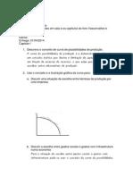 Lista Exercícios de Economia