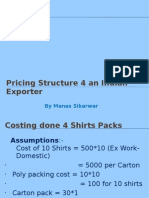 Pricing Structure 4 an Indian Exporter