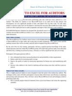 Excel for Auditors Sept, 2014