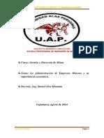 La Administración de Empresas Mineras y Su Importancia Económica