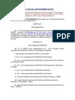 Lei Nº 11.540, De 12 de Novembro de 2007.