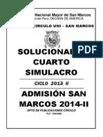 Solucionario 4to Simularo San Marcos 2014-II